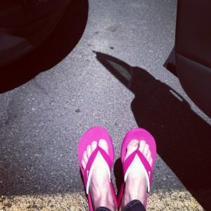 My feet in their natural habitat. High heels need not apply.